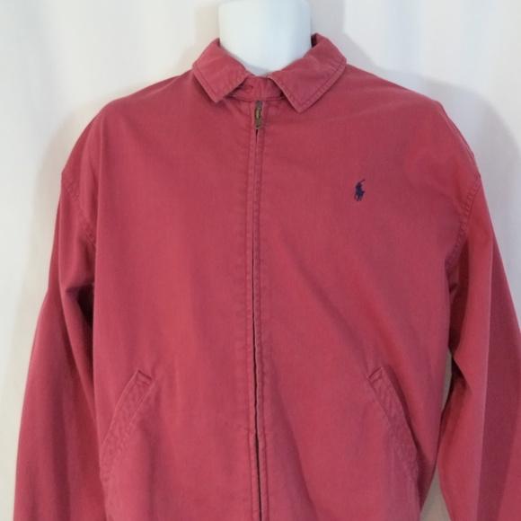 Ralph Lauren Vtg Barracuda Polo Jacket 90s Red Md shtrCQdx